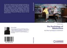 Portada del libro de The Psychology of Adolescence