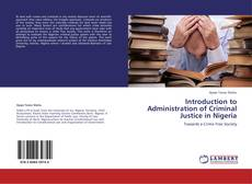 Buchcover von Introduction to Administration of Criminal Justice in Nigeria