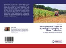 Borítókép a  Evaluating the Effects of Agricultural Financing on Maize Production: - hoz