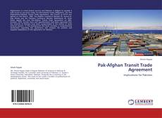 Buchcover von Pak-Afghan Transit Trade Agreement