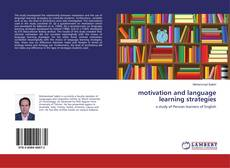 Bookcover of motivation and language learning strategies