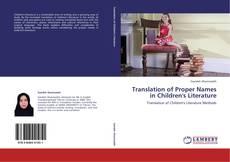 Portada del libro de Translation of Proper Names in Children's Literature