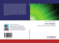Bookcover of Error Analysis