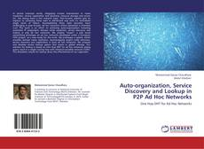 Capa do livro de Auto-organization, Service Discovery and Lookup in P2P Ad Hoc Networks