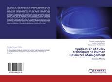 Capa do livro de Application of fuzzy techniques to Human Resources Management