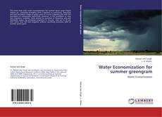 Bookcover of Water Economization for summer greengram