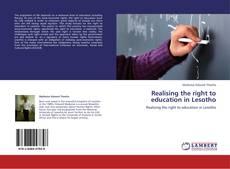 Portada del libro de Realising the right to education in Lesotho