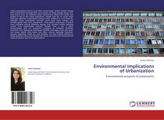 Buchcover von Environmental Implications of Urbanization