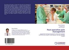 Bookcover of Post operative pain management