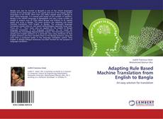 Couverture de Adapting Rule Based Machine Translation from English to Bangla