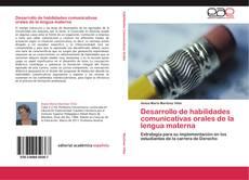 Desarrollo de habilidades comunicativas orales de la lengua materna kitap kapağı