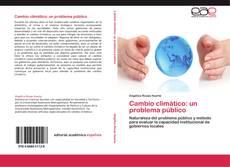 Capa do livro de Cambio climático: un problema público