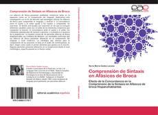 Buchcover von Comprensión de Sintaxis en Afásicos de Broca