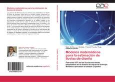 Portada del libro de Modelos matemáticos para la estimación de lluvias de diseño