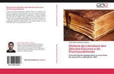 Capa do livro de Historia da Literatura dos Séculos Escuros e do Prerrexurdimento