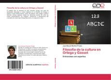 Capa do livro de Filosofía de la cultura en Ortega y Gasset