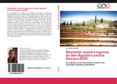 Bookcover of Bienestar social e ingreso en San Agustín Loxicha Oaxaca 2009