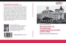 Capa do livro de Recuperando los monumentos arquitectónicos de Lima (1920-1990)