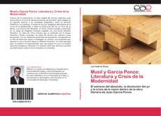 Portada del libro de Musil y García Ponce: Literatura y Crisis de la Modernidad