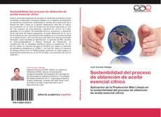 Portada del libro de Sostenibilidad del proceso de obtención de aceite esencial cítrico