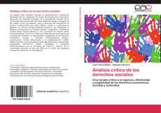 Buchcover von Análisis crítico de los derechos sociales