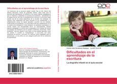 Обложка Dificultades en el aprendizaje de la escritura