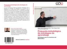 Portada del libro de Propuesta metodológica de estrategias de aprendizaje