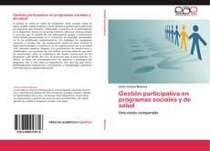 Обложка Gestión participativa en programas sociales y de salud