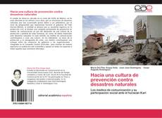 Couverture de Hacia una cultura de prevención contra desastres naturales