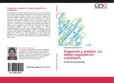 Buchcover von Cognición y sintaxis. La doble negación en castellano