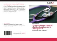 Copertina di Consideraciones Clínicas y Epidemiológicas de la Leptospirosis