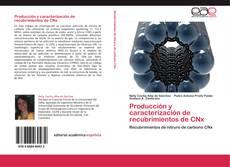 Portada del libro de Producción y caracterización de recubrimientos de CNx