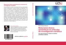 Relaciones léxico-semánticas en artículos de investigación científica kitap kapağı