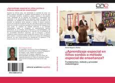 Bookcover of ¿Aprendizaje especial en niños sordos o método especial de enseñanza?