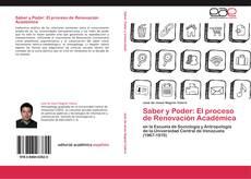 Обложка Saber y Poder: El proceso de Renovación Académica
