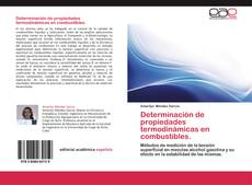 Portada del libro de Determinación de propiedades termodinámicas en combustibles.
