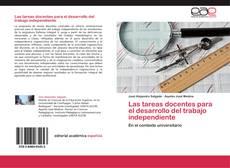 Copertina di Las tareas docentes para el desarrollo del trabajo independiente