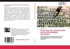 Portada del libro de Procesos de construcción de las identidades docentes