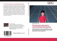 Borítókép a  Formación docente y exclusividad disciplinar - hoz