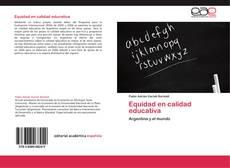 Equidad en calidad educativa kitap kapağı