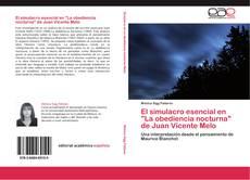 """El simulacro esencial en """"La obediencia nocturna"""" de Juan Vicente Melo的封面"""