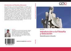 Portada del libro de Introducción a la Filosofía y Educación