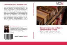 Bookcover of Comprensión de textos y pensamiento crítico