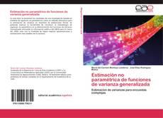 Portada del libro de Estimación no paramétrica de funciones de varianza generalizada