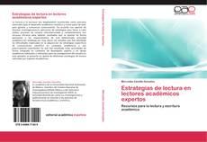 Capa do livro de Estrategias de lectura en lectores académicos expertos