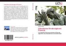 Buchcover von Literaturas fin-de-siglo en Francia