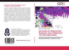 Обложка Inclusión en Educación Superior para Población con Discapacidad
