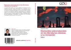 Elementos sobrenaturales en las literaturas clásicas y su recepción kitap kapağı