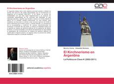 Capa do livro de El Kirchnerismo en Argentina