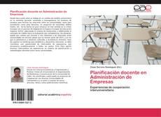 Bookcover of Planificación docente en Administración de Empresas